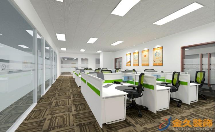 公共办公区装修设计效果图