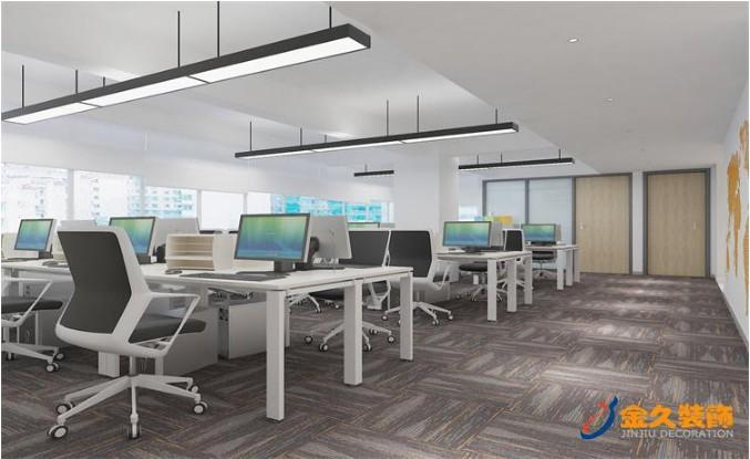 现代办公区域装修设计效果图