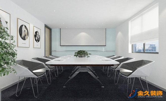 现代风格会议室装修设计效果图