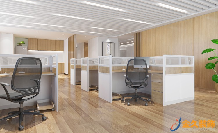 2019中式办公室装修效果图