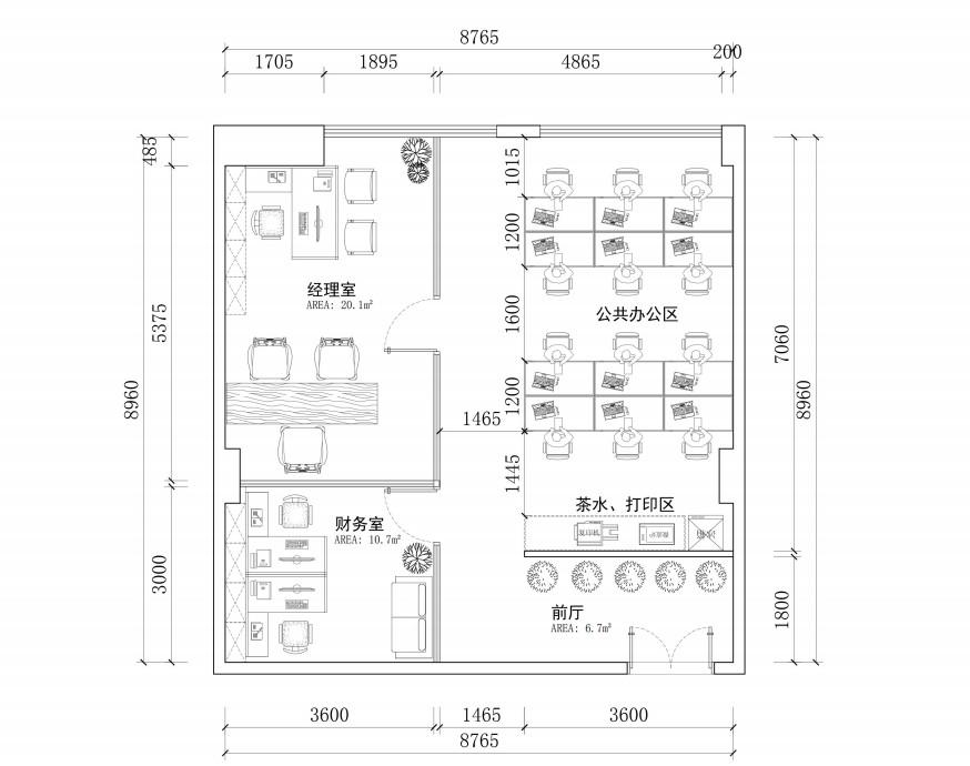 办公室装修中,广州办公室装修图纸包括什么内容