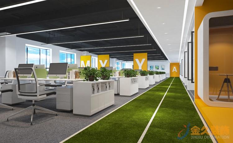 广州高档办公室装修如何选择地面装修材料?