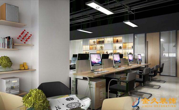 办公室办公区域装修效果图