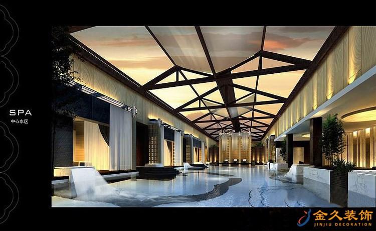 天雅水疗中心中心水区装修设计效果图1