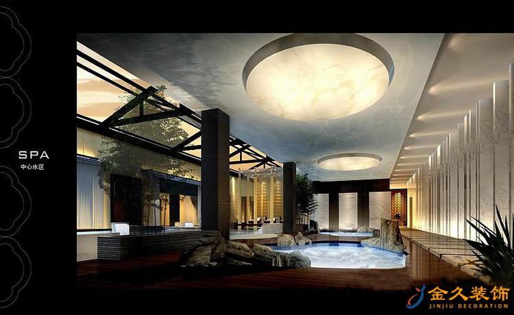 天雅水疗中心中心水区装修设计效果图2