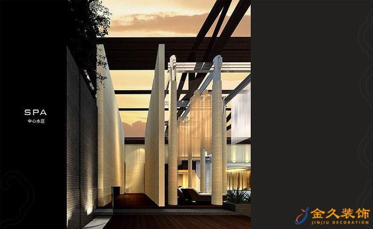 天雅水疗中心中心水区装修设计效果图3