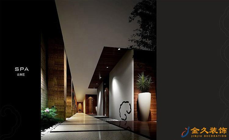 天雅水疗中心走廊区装修设计效果图