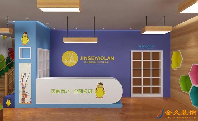 金色摇篮幼儿园前台装修效果图