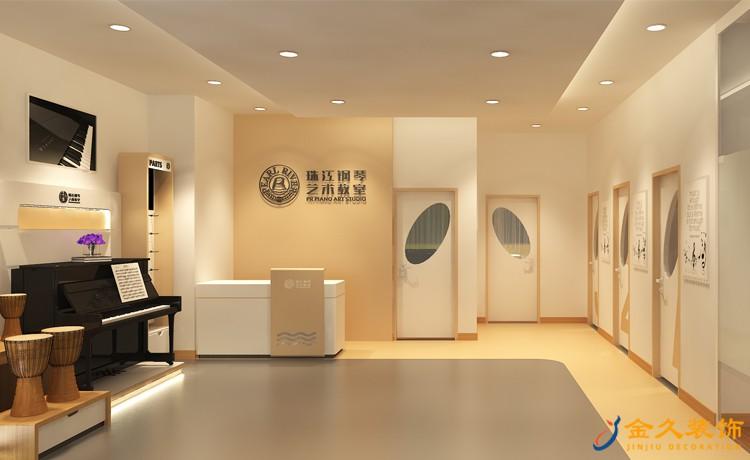 珠江钢琴艺术中心培训机构前台装修效果图