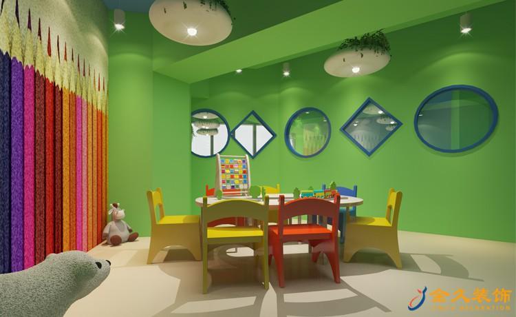 儿童培训机构游戏区装修效果图