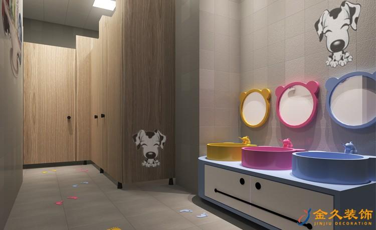 儿童培训机构卫生间装修效果图
