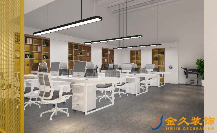 广州办公室装修如何处理空间协调